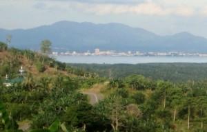 Kota Tawau Malaysia terlihat dari Pulau Sebatik