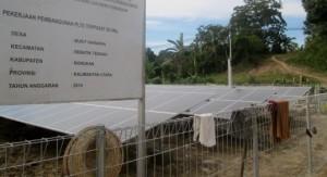 Pembangunan PLTS di Pulau Sebatik
