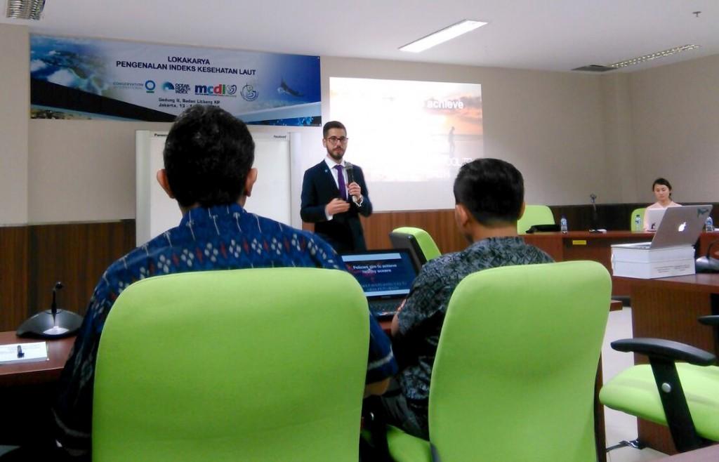 Erich Pacheco memperkenalkan Ocean Health Index (OHI)
