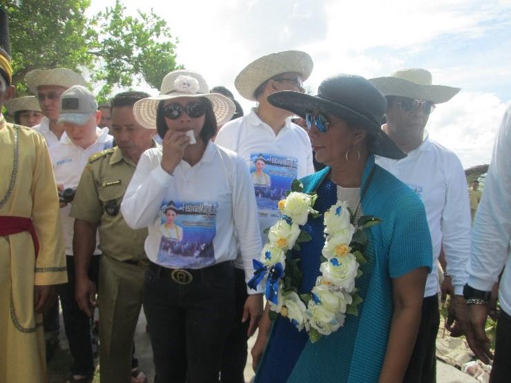 Menteri Kelautan dan Perikanan, Susi Pudjiastuti saat menghadiri Festival Mane'e tahun 2015 lalu