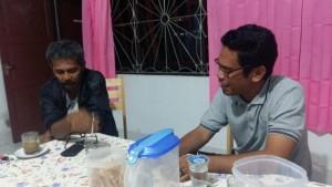 Kadis DKP Supiori dan La Ode Hardiani (foto: Kamaruddin Azis)