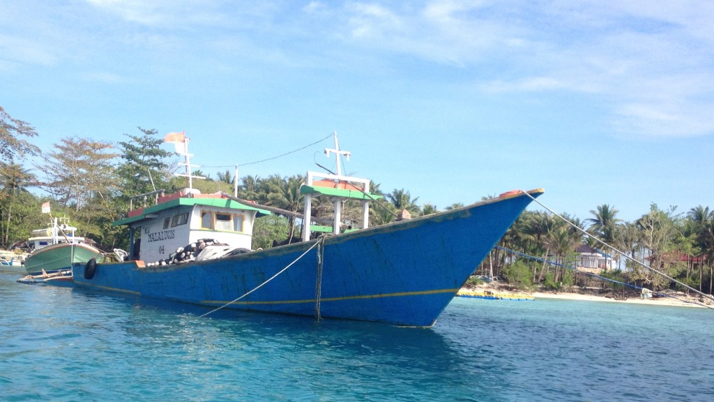 Perahiuu nelayan Desa Dalum Kepulauan Talaud, Sulawesi Utara